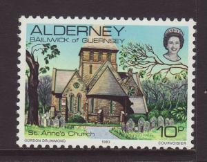 1983 Alderney 10p U/M SGA4
