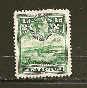 Antigua 84 English Harbour King George VI Mint Hinged