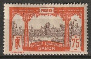 Gabon 1910 Sc 68 MH* disturbed gum