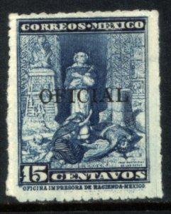 MEXICO O215, 15¢ FRAY BARTOLOME DE LAS CASAS OFFICIAL. Mint, NH. VF.