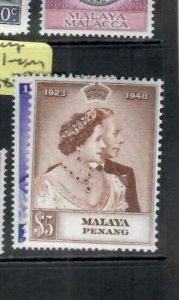 MALAYA  PENANG    (PP1606B)  KGVI SILVER WEDDING  SG 1-2   MOG