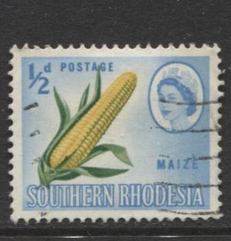Southern Rhodesia- Scott 95 - QEII Definitives -1964 - Used- Single 1/2d Stamp
