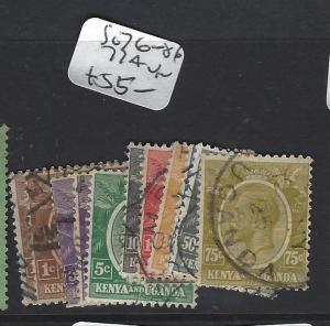 KENYA  AND UGANDA (P0909B) KGV  SG76-86 77A  VFU