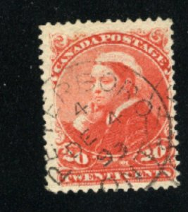 Canada #46  used  VF 1893   PD