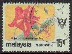 Sarawak Scott 252, 1979 Flowers 15c used