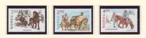 Norway Sc 917-9 1987 Horses stamps mint NH