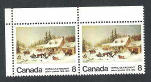 CANADA DOT IN SNOW VARIETY SCOTT 610p VF MINT NH (BS19020)