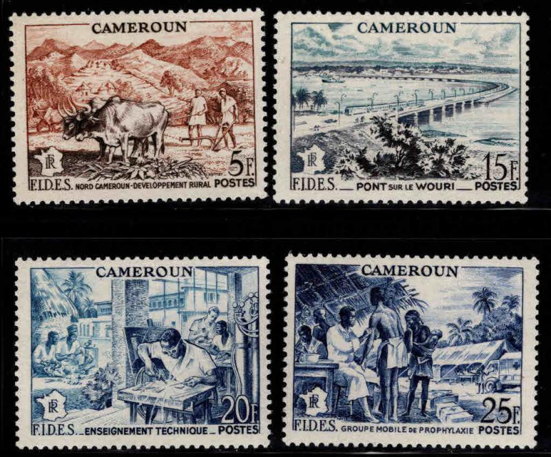 Cameroun Scott 326-329 MNH** FIDES set of 1956