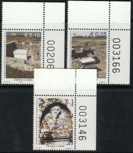 KOSOVO 177-179, ARCHEOLOGY, BUILDING RUINS. MINT, NH. VF (581)