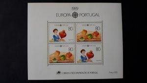 Europa CEPT - Portugal 1989. ** MNH Block