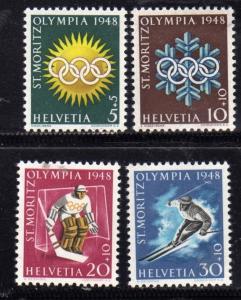 SWITZERLAND SUISSE SCHWEIZ SVIZZERA 1948 OLYMPIC WINTER GAMES ST.MORITZ GIOCH...
