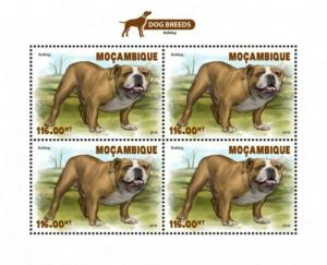 Mozambique - 2018 Dog Breeds - 4 Stamp Sheet - MOZ18529a