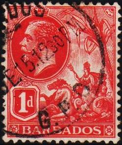 Barbados. 1912 1d S.G.172 Fine Used