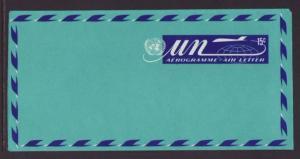 UN New York UC9 Aerogramme Unused