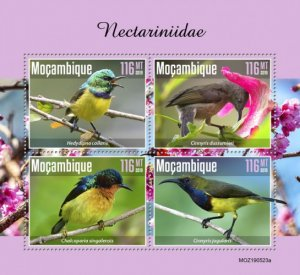 MOZAMBIQUE - 2019 - Sunbirds - Perf 4v Sheet  - M N H
