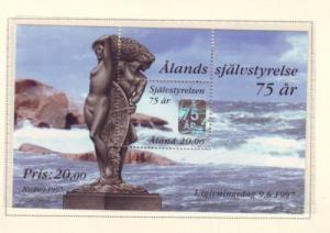 Aland Finland Sc 137 1997 Autonomy stamp sheet mint N