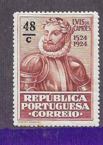 Portugal #329  48c red brown (MH) CV $1.25