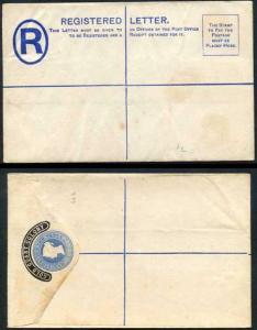 Gold Coast Colony O/P on 2d Blue Registered Letter Mint