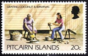 Pitcairn Islands # 169 mnh ~ 20¢ Women Grating Coconuts