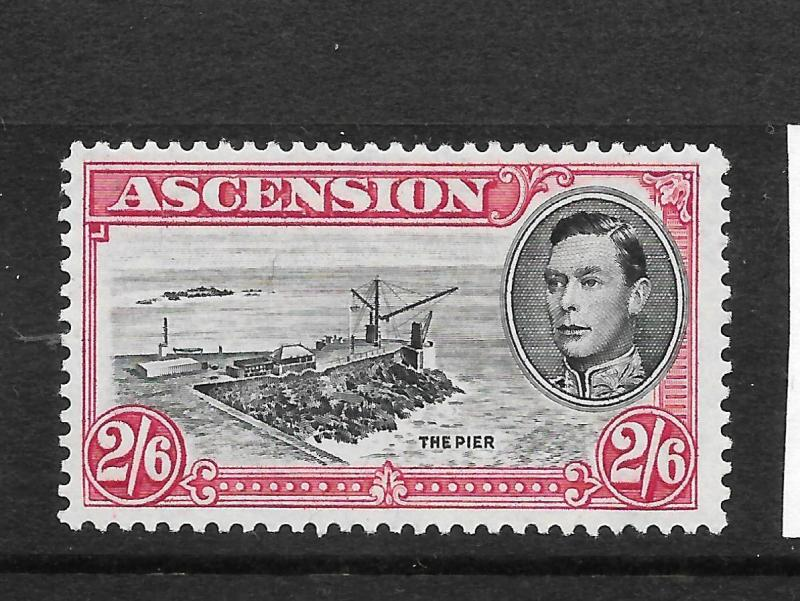 ASCENSION ISLAND  1938-53  2/6  KGVI  PICTORIAL  MLH  P13    SG 45c
