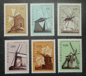 Portugal 1088-93. 1971 Windmills, NH