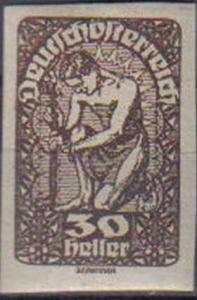 AUSTRIA, 1919, MH 30k, Imperf