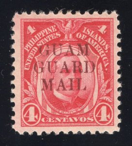 Guam# M8 4 Cents, Carmine - Guam Guard Mail - Unused - O.G. - Previously Hinged