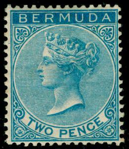BERMUDA SG25, 2d blue, M MINT. Cat £70.