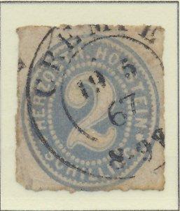 Schleswig- Holstein (German State) Stamp Scott #21, Used, Good Cancel