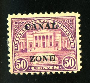 CANAL ZONE #80 MINT F-VF OG HR Cat $75