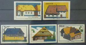 Match Box Labels ! architecture construction house houses GN5