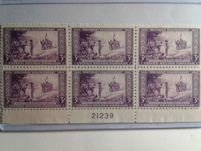 SCOTT # 739 IMPERFERATED PLATE BLOCK OF 6 GEM