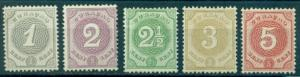 Netherlands Antilles #13-17  Mint F-VF LH  Scott $32.00