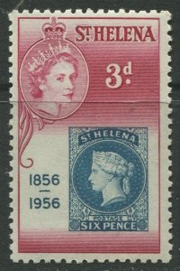 STAMP STATION PERTH St Helena #153 Cent. of St Helena 1st Postage StamP 1956 MNH