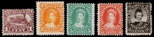New Brunswick Scott 6-9, 11 (1860-63) Mint H G-F, CV $200.00 B
