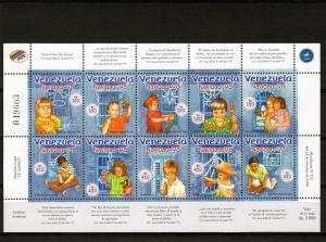 Venezuela 1998 Christmas 98 Sheet (10) Perforated mnh.vf