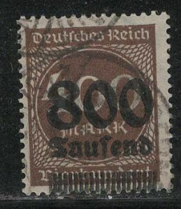 Germany Reich Scott # 265, used, exp h/s