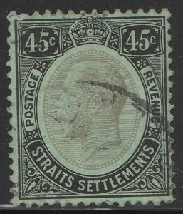 Malaya Straits Settlements 1922 KG V 45c Used MCCA SG#208b M1643