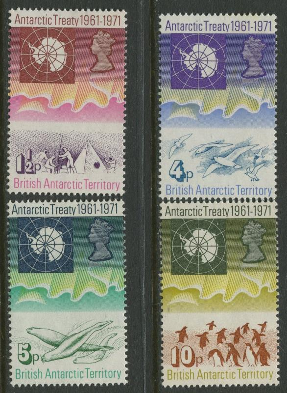 British Antarctic Terr. - Scott 39-42 - General Issue -1971- MNH -Set of 4 Stamp
