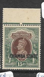 INDIA CHAMBA  (PP2905B)  KGV1  15R  SG 98     MNH