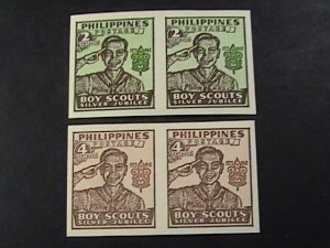 PHILIPPINES # 528-529-MINT/NEVER HINGED---COMPLETE SET IMPERFORATE PAIRS---1948