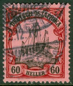 EDW1949SELL : GERMAN EAST AFRICA 1905 Scott #29 Very Fine, Used. Signed Cat $95.
