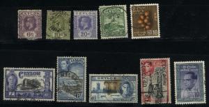 Ceylon 10 different Mint & used PD