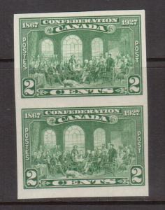 Canada #142a XF/NH Imperf Pair