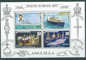 Anguilla #274a 25th anniv. Souvenir Sheet of 4 (MNH) CV$1.00