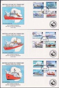 British Antarctic Territory Scott 202-213 Unaddressed.