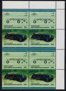 St Vincent Grenadines Union Is 149 TR Block Specimen o/p MNH Car, Lagonda