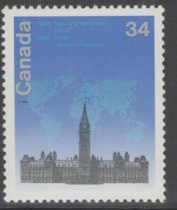 CANADA SG1174 1985 INTER-PARLIAMENTARY UNION MNH