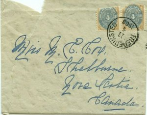 Dutch West Indies cover rough shape Cat over $200+ 1903 Frederiksted to Canada