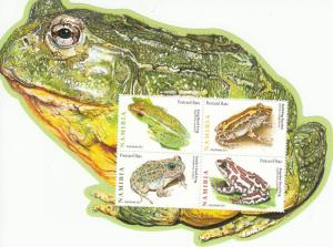Namibia 2011 MNH Frogs 4v M/S Long Reed Bubbling Kassina Angolan Frog Amphibians